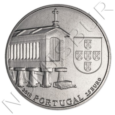 2,5€ PORTUGAL 2018 - Granary Houses from Northwest of Portugal