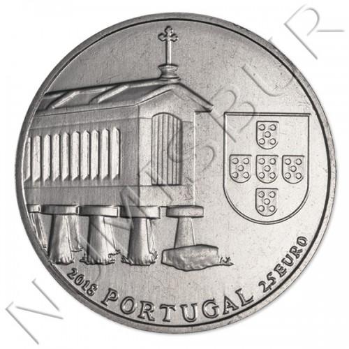 2,5€ PORTUGAL 2018 - Casas de granero del noroeste de Portugal