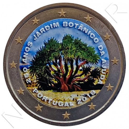 2€ PORTUGAL 2018 - 250 Years of the Botanical Garden of Ajuda (COLOR)