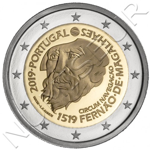 2€ PORTUGAL 2019 - 500 Years of the circulation of Magellan