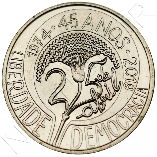 5€ PORTUGAL 2019 - 45 years of the April 25 Revolution