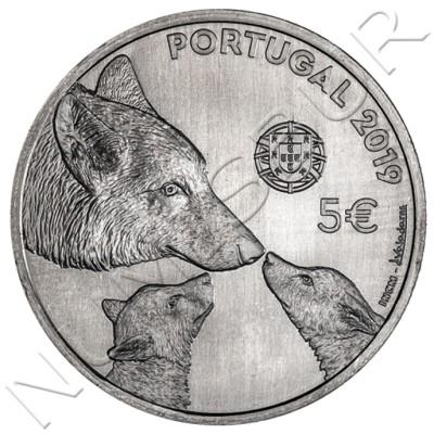 5€ PORTUGAL 2019 - Iberian wolf
