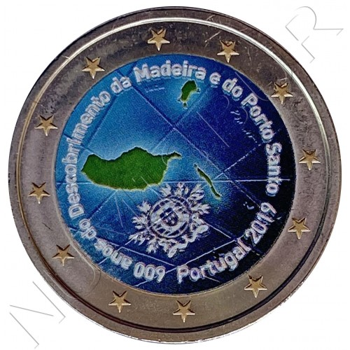 2€ PORTUGAL 2019 - 600 Years Of Discovery Of Madeira And Porto Santo (COLOR)