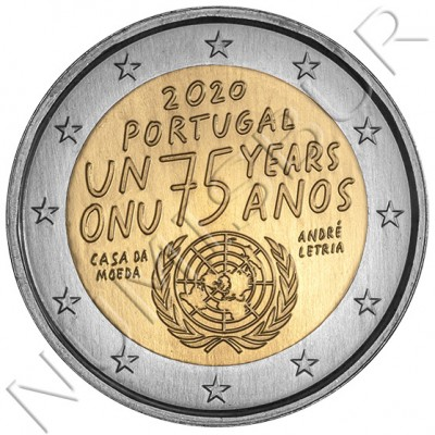 2€ PORTUGAL 2020 - 75th Anniversary of United Nations