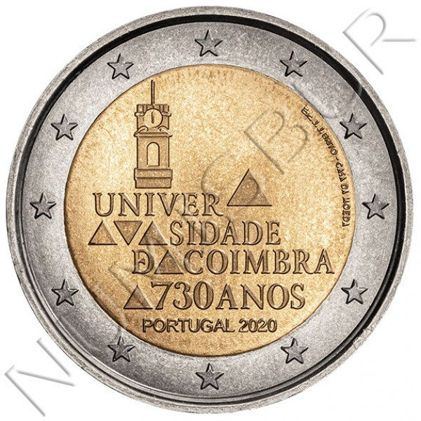 2€ PORTUGAL 2020 - 730 Years of the University of Coimbra