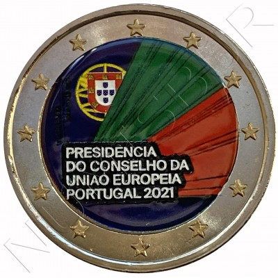 2€ PORTUGAL 2021 - Portuguese Presidency in the EU (COLORED)