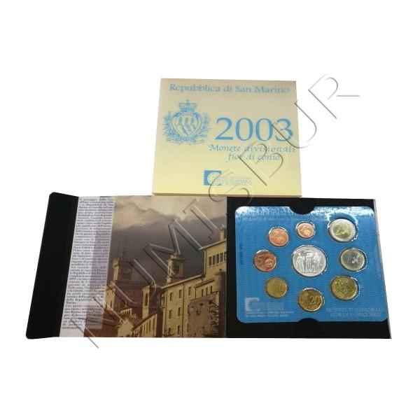 Euroset SAN MARINO 2003 + 5 euros plata