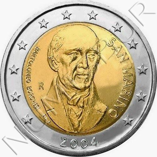 2€ SAN MARINO 2004 - Bartolomeo Borghesi