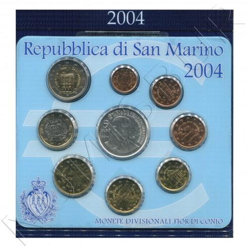 Euroset SAN MARINO 2004 + 5 euros plata
