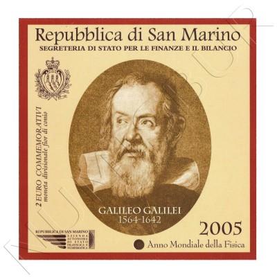 2€ SAN MARINO 2005 - Galileo Galilei