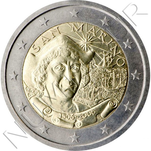 2€ SAN MARINO 2006 - Cristoforo Colombo (SIN BLISTER)