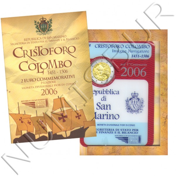 2€ SAN MARINO 2006 - Cristoforo Colombo