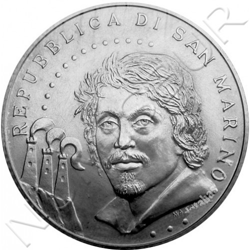5€ SAN MARINO 2010 - Caravaggio