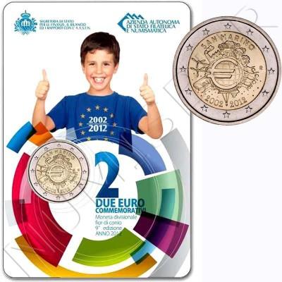 2€ SAN MARINO 2012 - X aniversario del Euro