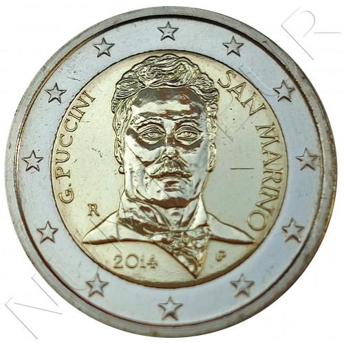 2€ SAN MARINO 2014 - Giacomo Puccini (SIN BLISTER)