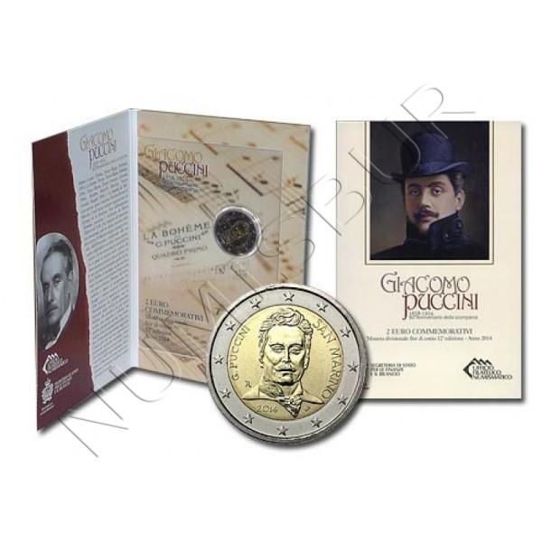 2€ SAN MARINO 2014 - Giacomo Puccini