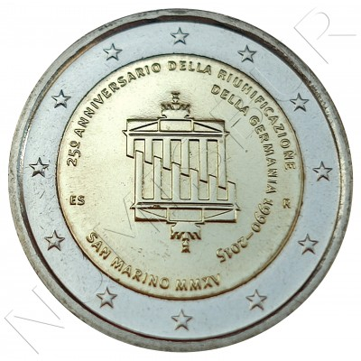 2€ SAN MARINO 2015 - 25 aniv. Reunification of Germany (SIN BLISTER)