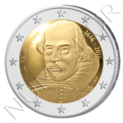 2€ SAN MARINO 2016 - William Shakespeare