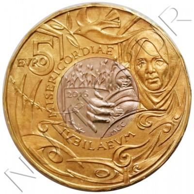 5€ SAN MARINO 2016 - Misericordia