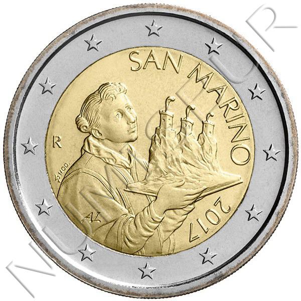 2€ SAN MARINO 2017 - Circulant