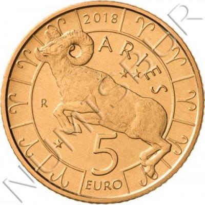5€ SAN MARINO 2018 - Aries