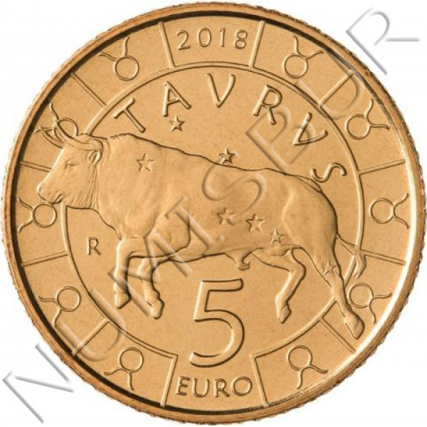 5€ SAN MARINO 2018 - Taurus