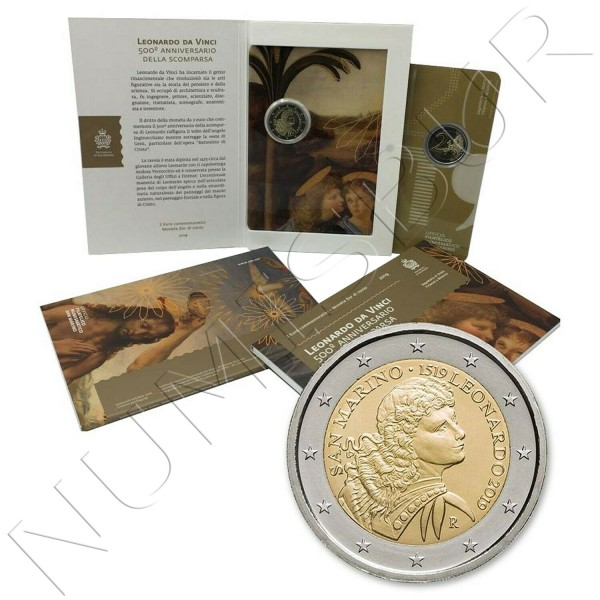 2€ SAN MARINO 2019 - Leonardo Da Vinci