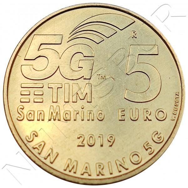 5€ SAN MARINO 2019 - 5G New communications system