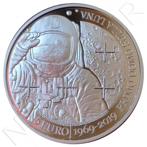5€ SAN MARINO 2019 - First man on the moon