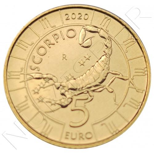 5€ SAN MARINO 2020 - Scorpio