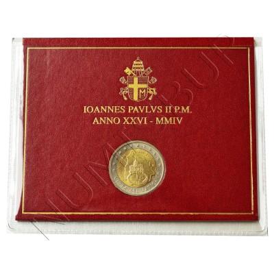 2€ VATICANO 2004 - 75 aniv. estado Juan Pablo II