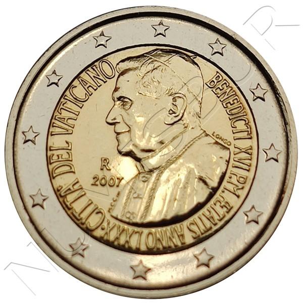 2€ VATICANO 2007 - 80 anniv. of Pope Benedict XVI (SIN BLISTER)