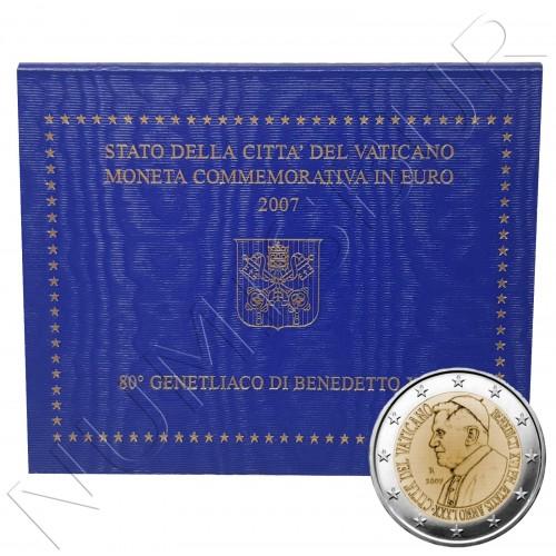 2€ VATICANO 2007 - 80 aniv. del Papa Benedicto XVI