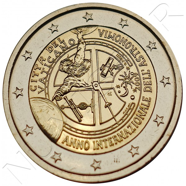 2€ VATICANO 2009 - International Year of Astronomy (SIN BLISTER)