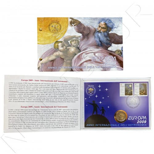 2€ VATICANO 2009 - International Year of Astronomy + Stamps