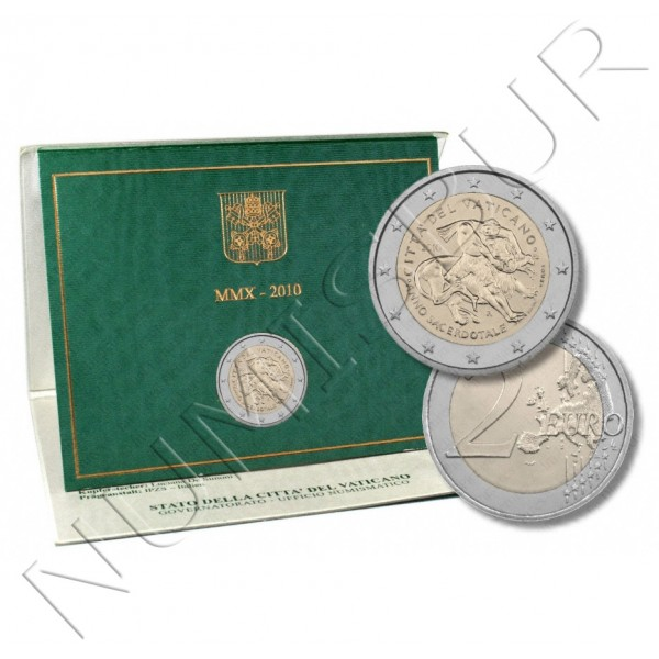 2€ VATICANO 2010 - Priestly year