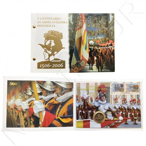 2€ VATICANO 2006 - V Centenary of the Pontifical Swiss guard + Stamp