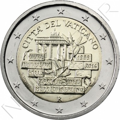 2€ VATICANO 2014 - 25 aniv. Fall of the Berlin Wall