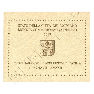 2 € VATICAN 2017 - Anniversary appearances of Fatima