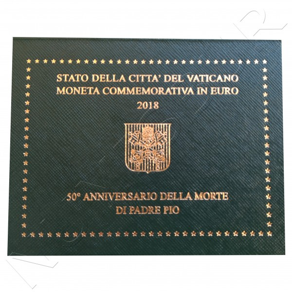 2 € VATICAN 2018 - 50 years. death father pio