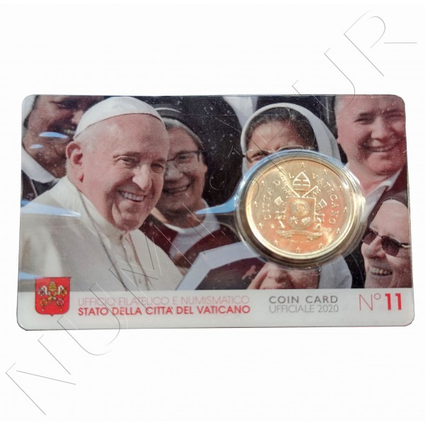 50 cents VATICANO 2020 - Official coin card N 11