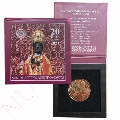 "20€ VATICANO 2021 - Art and faith ""St. Peter's Basilica"" BOX"