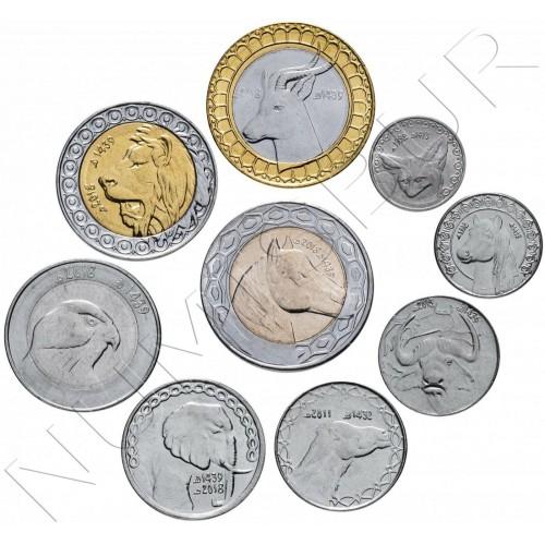 Set ARGELIA 1992 - 2018 (9 coins)