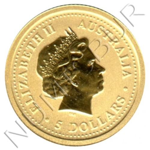 5$ AUSTRALIA 2002 - Canguro 1/20 oz