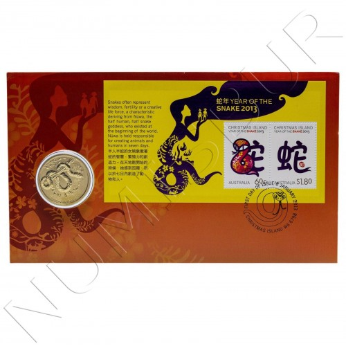 1$ AUSTRALIA 2013 - Year of the snake