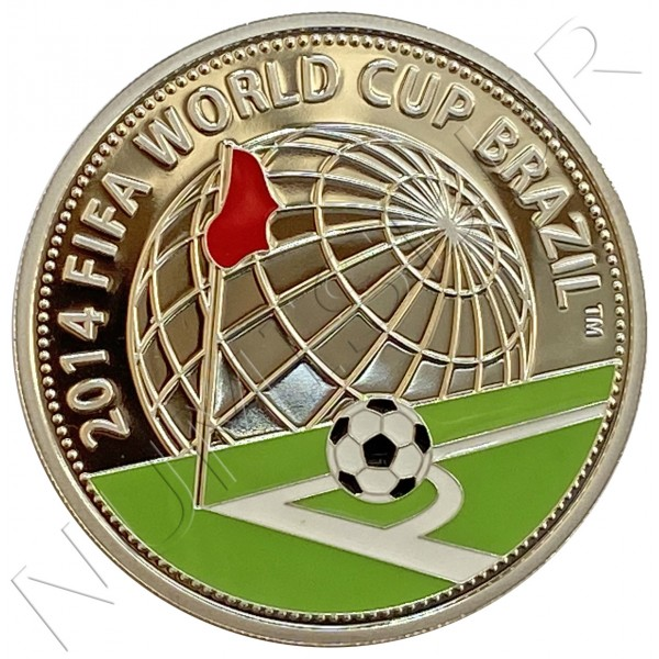 "10 rubles BELARUS 2013 - FIFA WORLD CUP ""BRAZIL"""