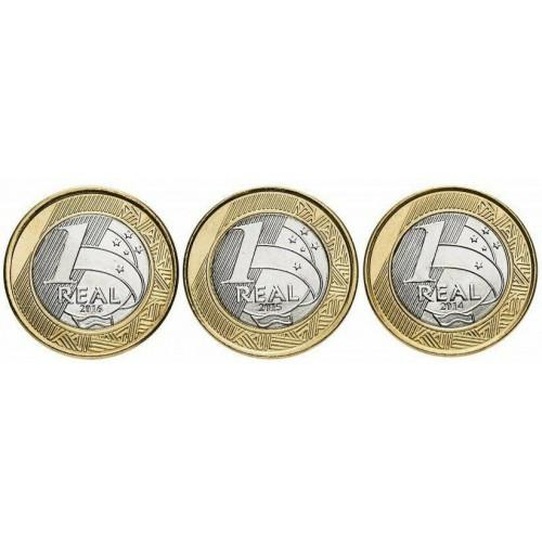 1 real BRAZIL - XXXI Summer Olympics (16 coins)