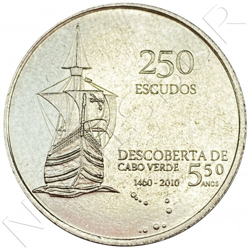 250 escudos CAPE VEDE 2010 - 35 years independence of discovery