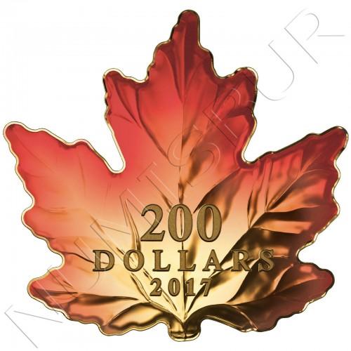 200$ CANADA 2017 - Maple leaf cut out