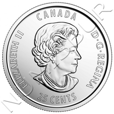 0.25$ CANADA 2017 - Hope for a Green Future